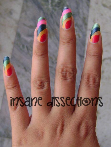 rainbow nails 2