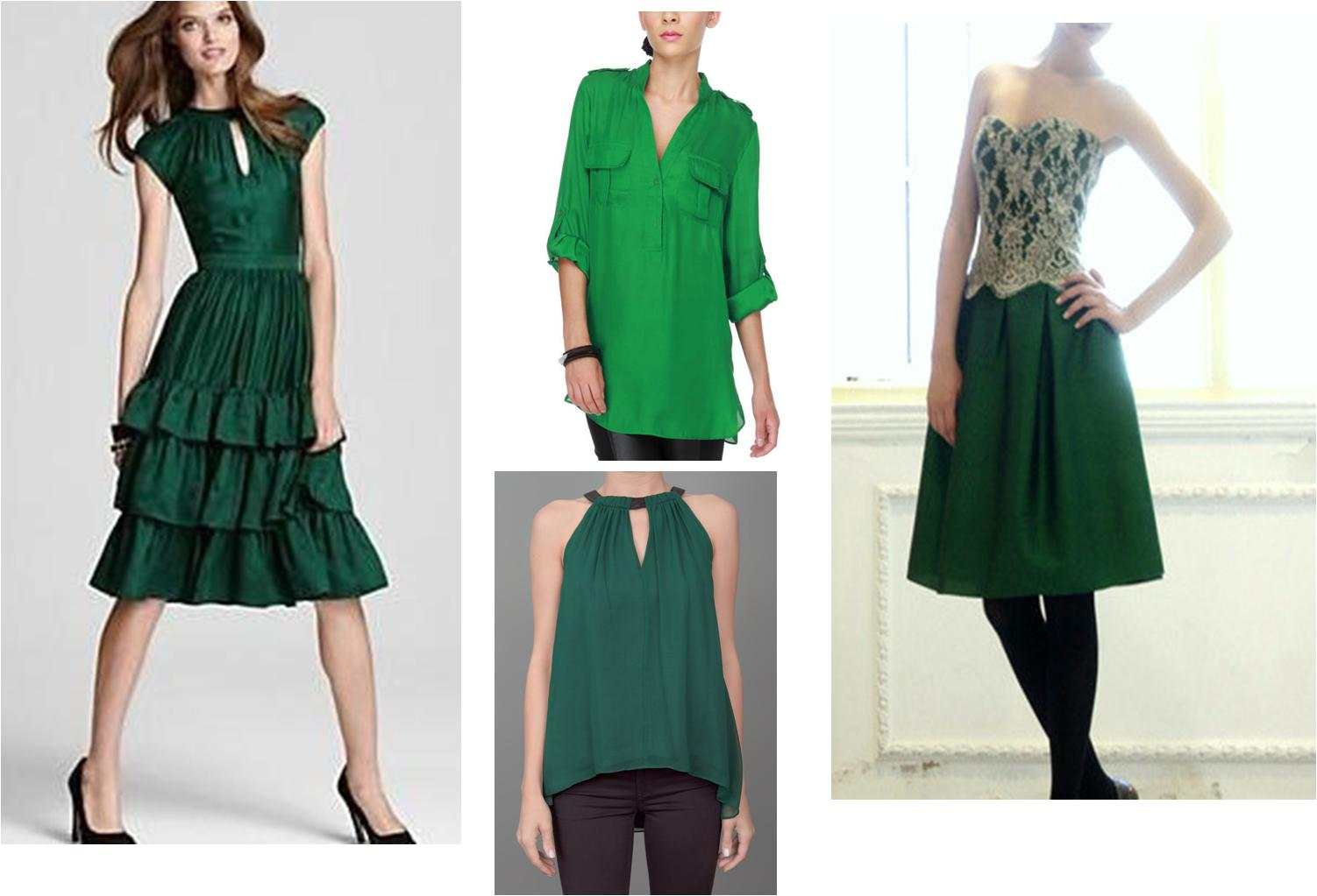 trend alert wearing emerald green dissections