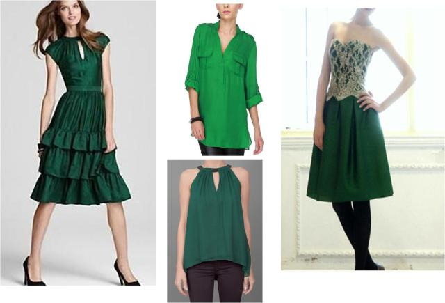 emerald green dresses
