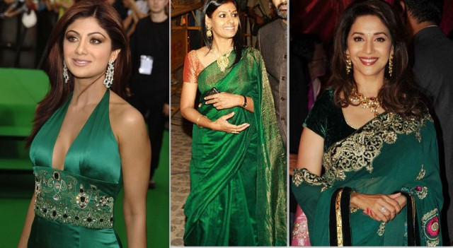 emerald green celebrities 3