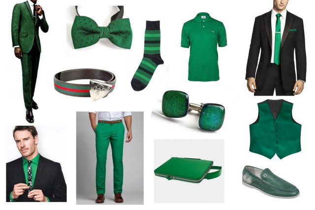 Emerald green for men