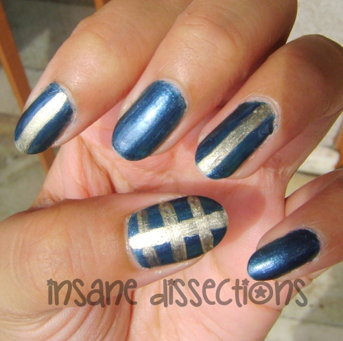 blue golden nail art-3
