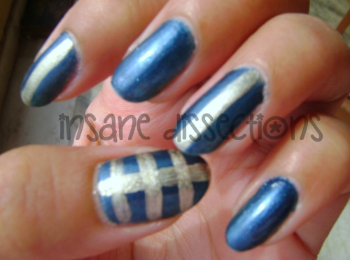 blue golden nail art-2