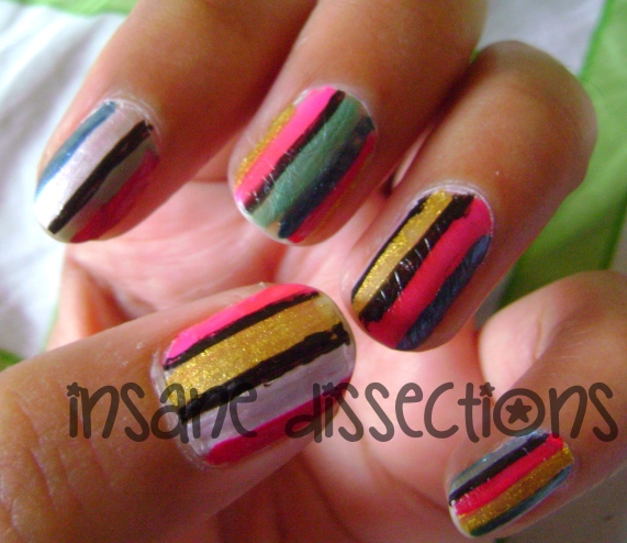 Stripes nail art-1