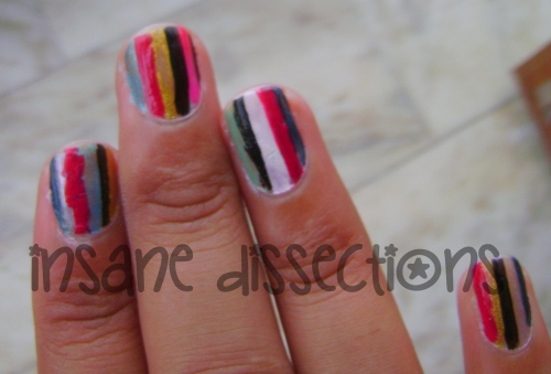 Stripes nail art-4