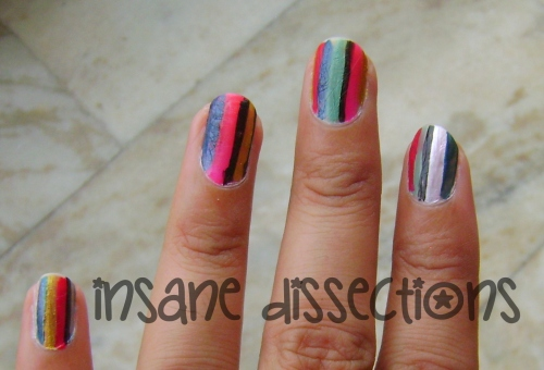 Stripes nail art-5
