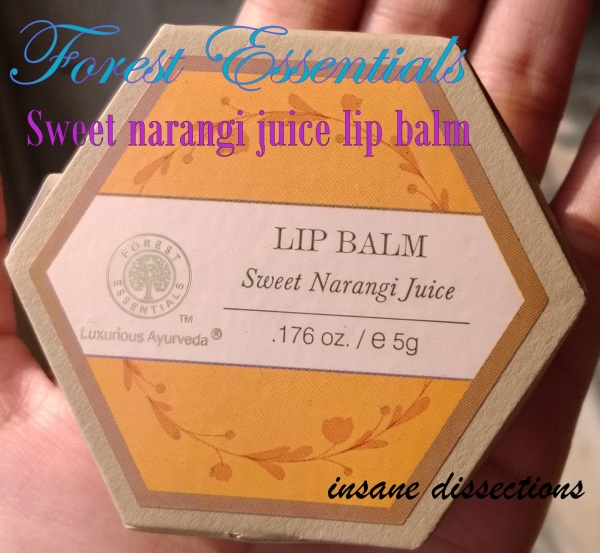 Forest Essentials lip balm
