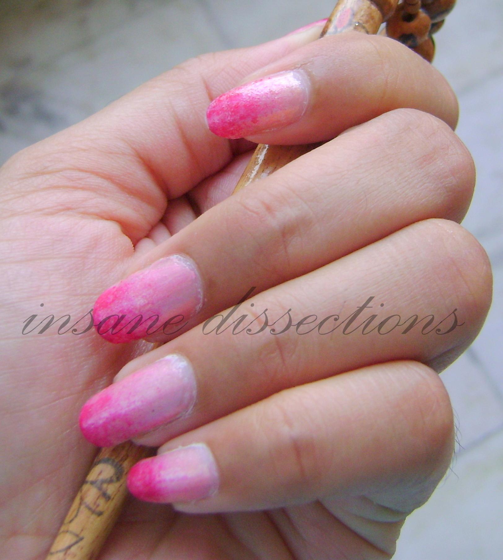 Gradient Nail Art: Pink Gradient Nail Art