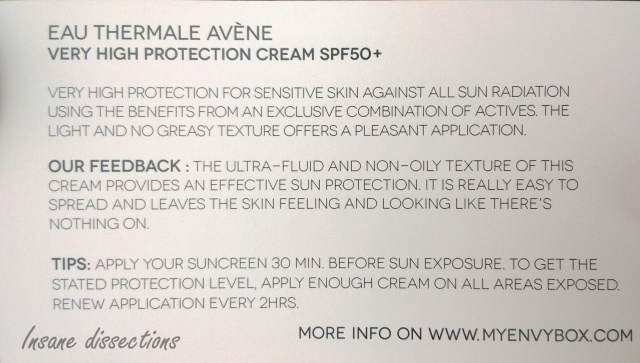 Avene My envy box