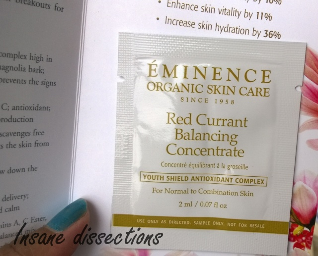 eminence organics red currant concentrate