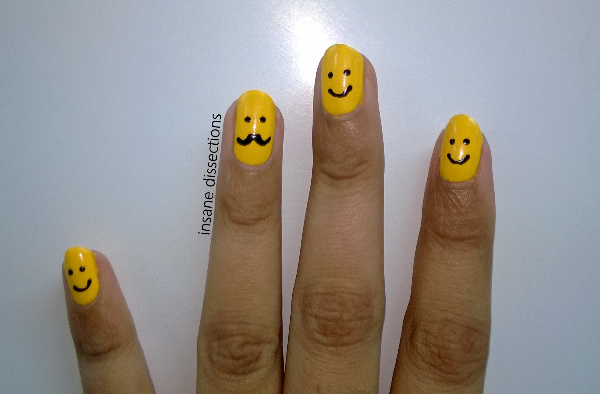 Smiley moustache nail art insane dissections smiley moustache nail art prinsesfo Choice Image