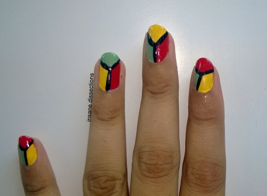 colorblock nails