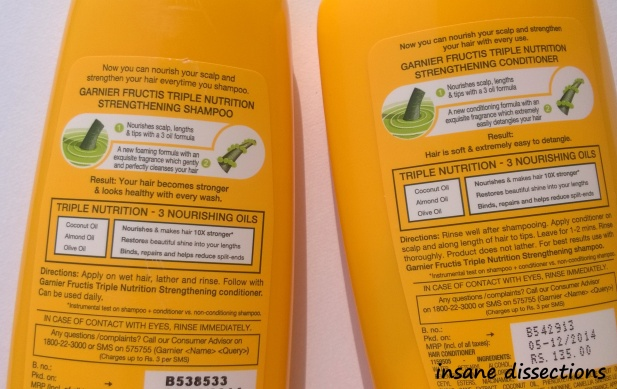garnier fructis shampoo and conditioner price