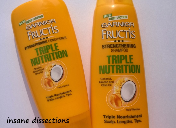 garnier fructis shampoo and conditioner