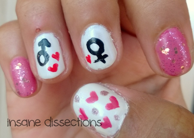 biology love nail art