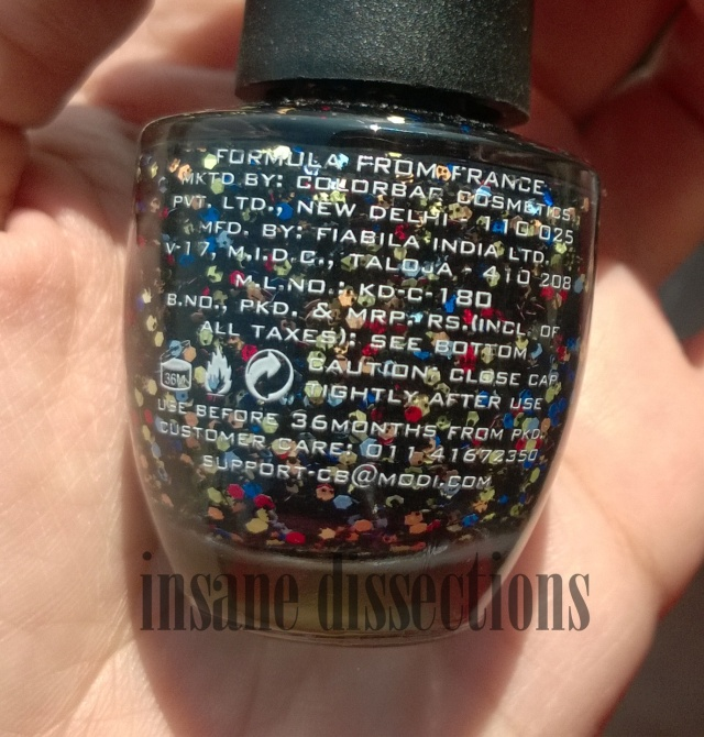 colorbar black fiesta nail lacquer