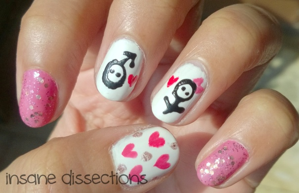 cute love nail art
