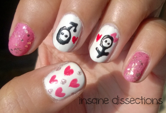 easy valentine nail art