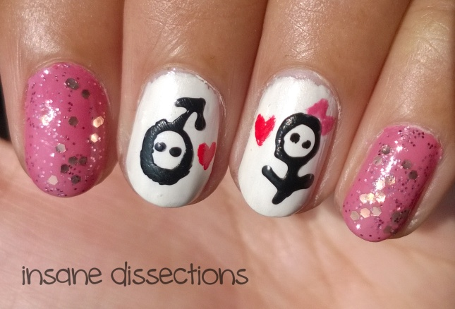 love biology nail art