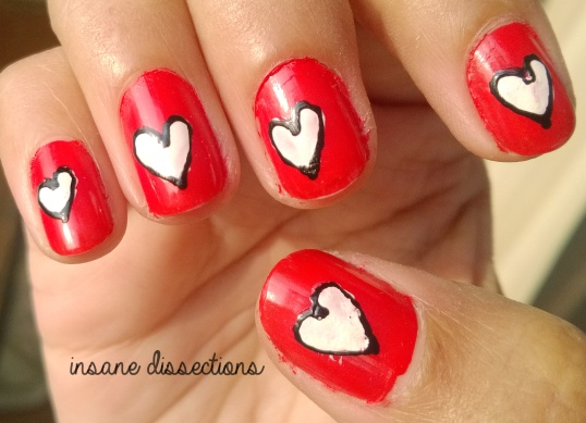 valentine nail art