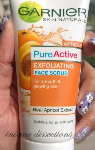 garnier proactive apricot scrub