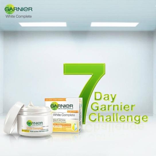 7 Day Garnier Challenge Get Free Sample of Garnier White Complete Cream & Win Excting Garnier Gift Hamper MaalFreeKaa Free Sample of India
