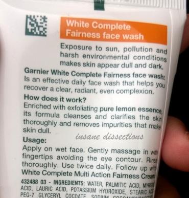 garnier white complete face wash price