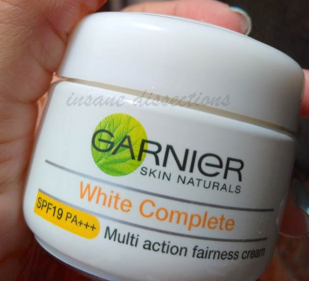 garnier white complete fairness cream review