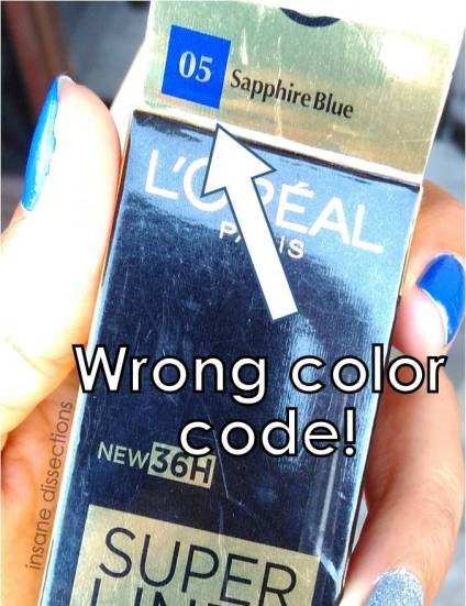 loreal sapphire blue color