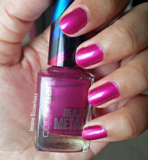 Colorbar heavy metal nail polish pink topaz