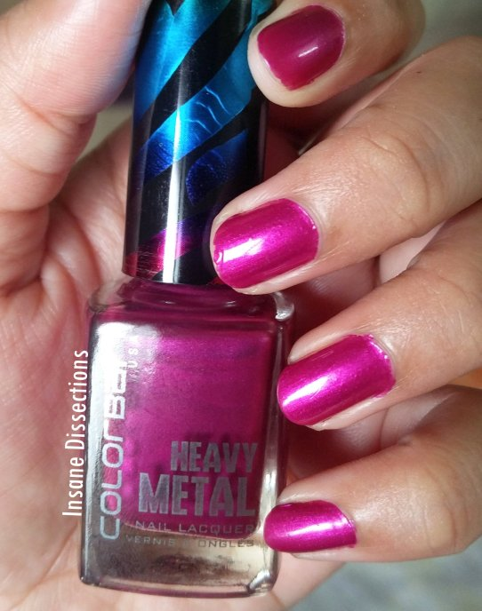 Colorbar heavy metal nail polish review
