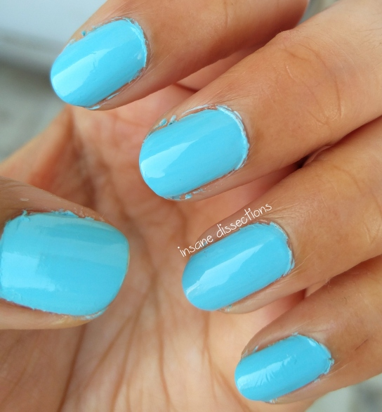 pastel blue nail polish | Insane Dissections