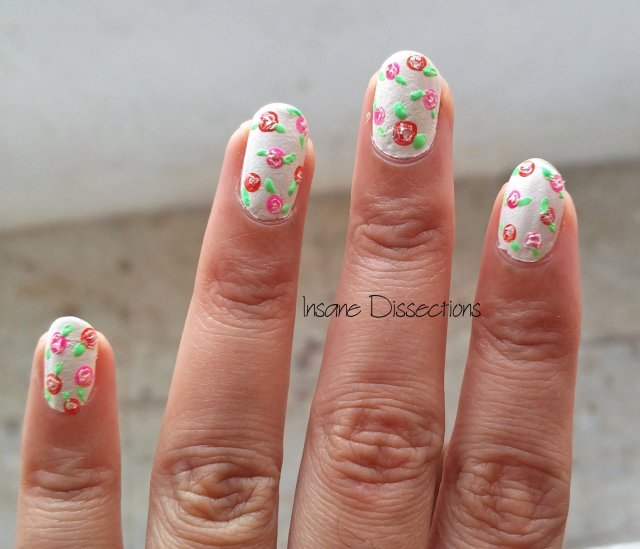 Easy floral nail art insane dissections hope you find this useful prinsesfo Images
