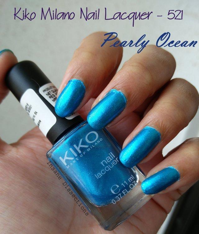 kiko milano nail lacquer 521 review | Insane Dissections
