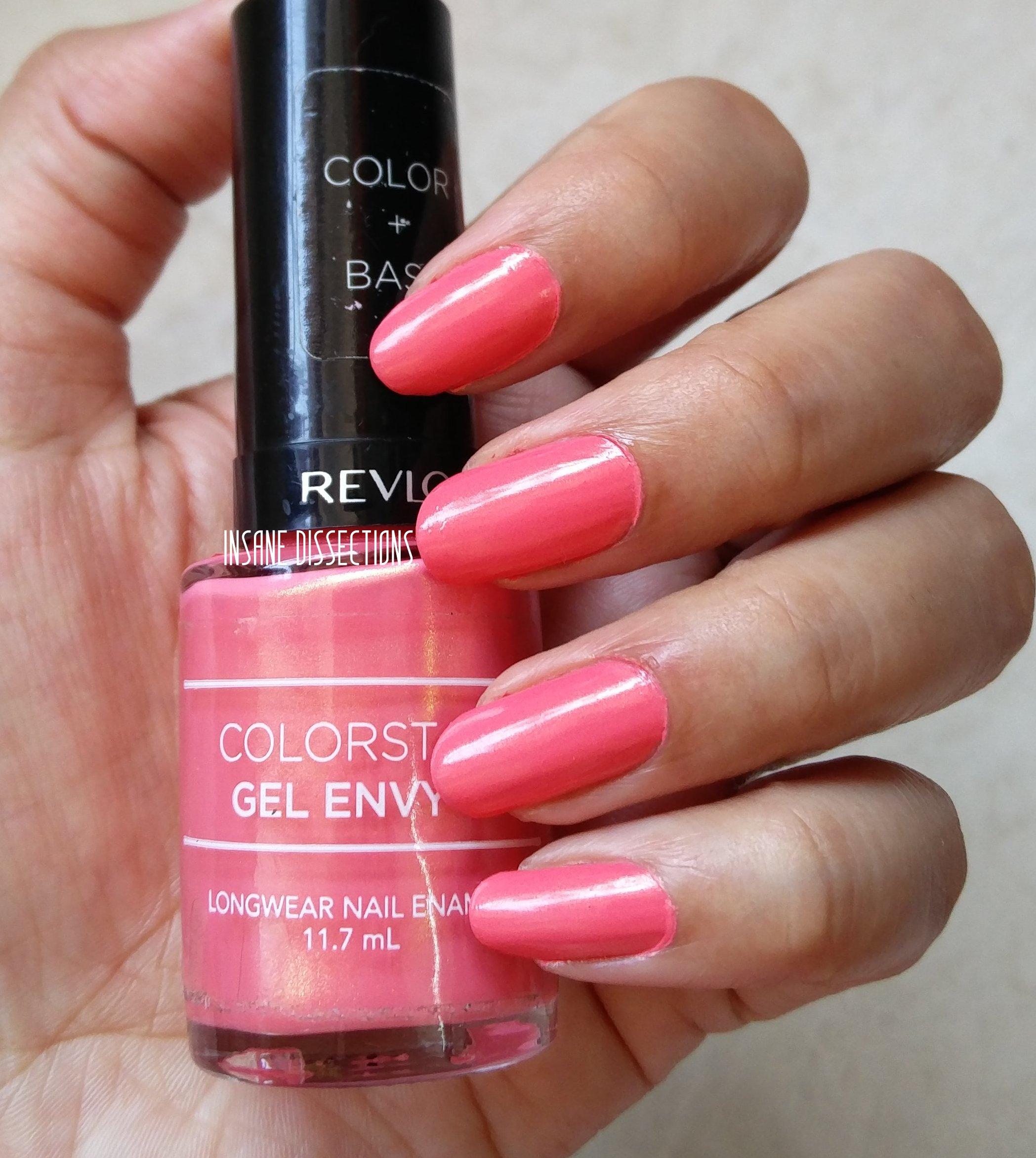 revlon colorstay gel envy lady luck nailpolish review