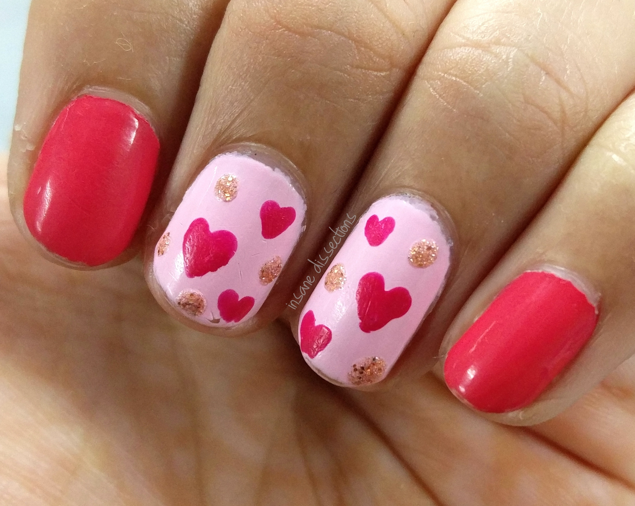 Simple Hearts Nail Art Insane Dissections
